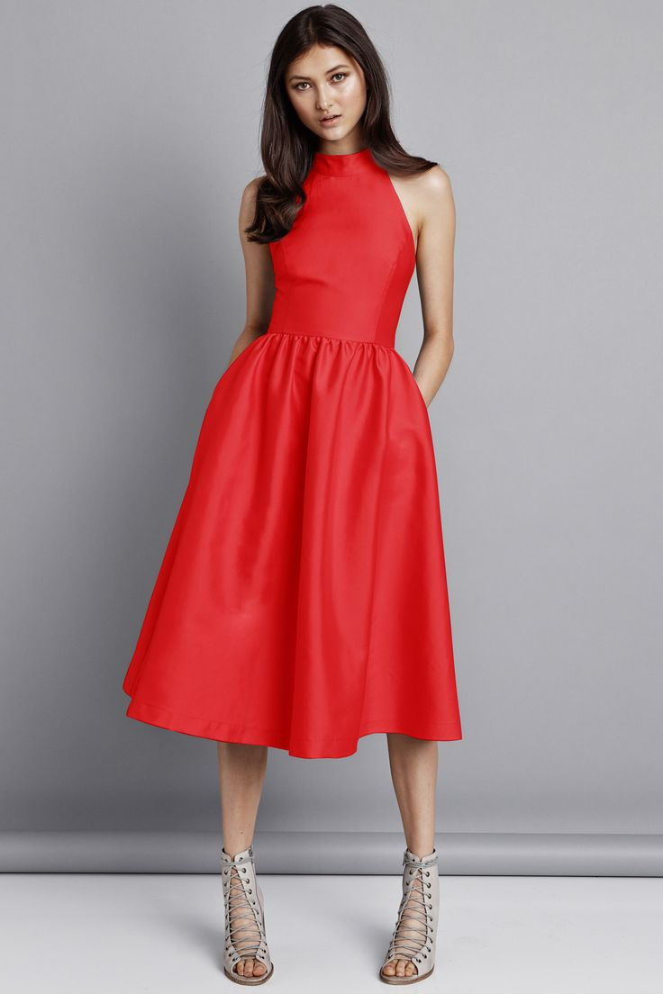 Pink Stitch - Last Word Dress - Scarlet