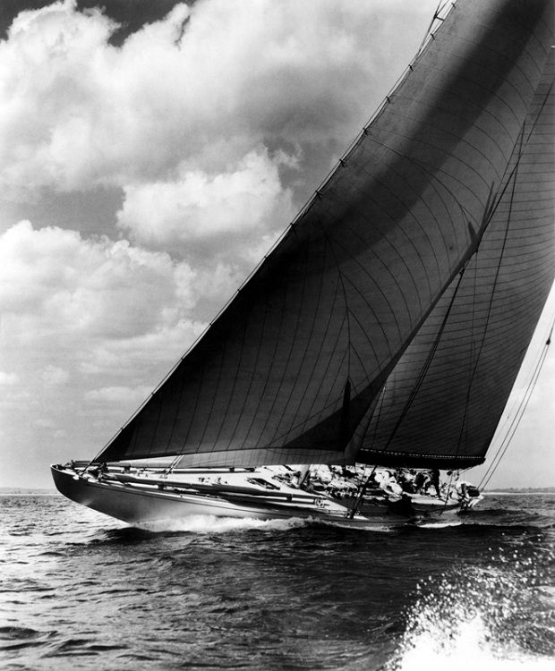 J5 Ranger back in the good old days. #sailing #J Class