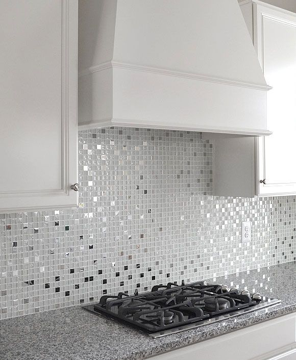 White Glass Metal Backsplash Tile Luna Pearl Backsplash Home