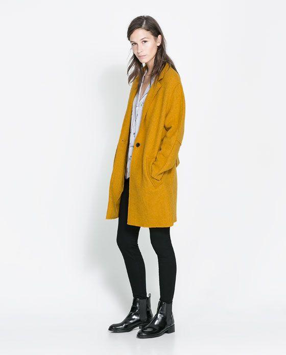 les 25 meilleures id es concernant manteau femme moutarde sur pinterest veste color e via. Black Bedroom Furniture Sets. Home Design Ideas