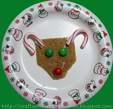 Crafts~N~Things for Children: Rudolf the Red-Nosed Reindeer Snack idea #funfood