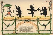 """Tafel 4 aus der Geschichte von den schwarzen Buben aus dem """"Struwwelpeter"""" (© Public Domain, Heinrich Hoffmann: Der Struwwelpeter)"""