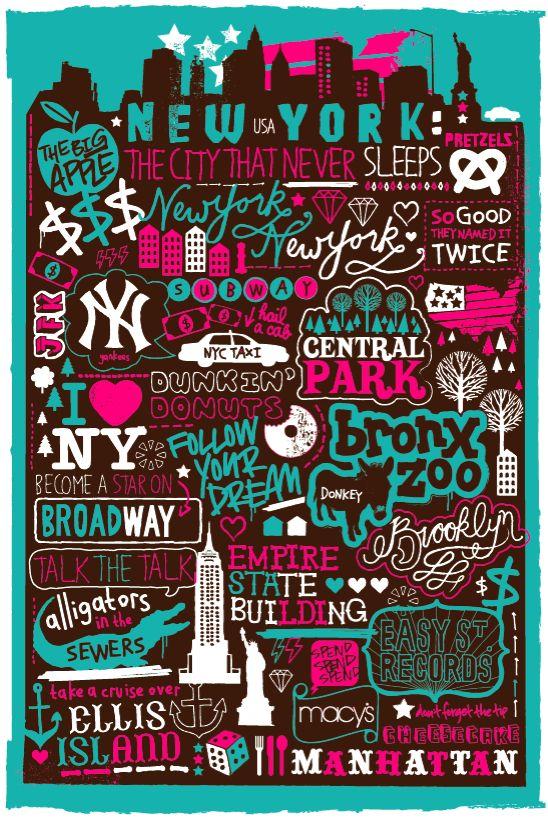 New York New York by sophie henson, via Behance
