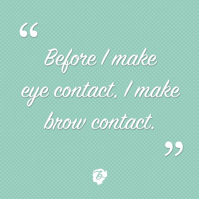 Do you ever check out someone's #arches before their irises? #benefitbeauty #wordsofwisdom
