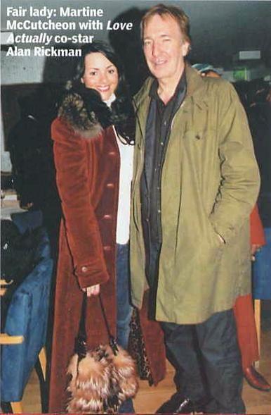 2003 - Martine McCutcheon with Alan Rickman