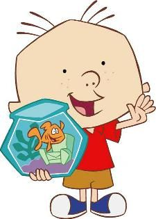 """Stanley & his pet fish Dennis ~ """"It's the great big book of everything, with everything inside..."""""""