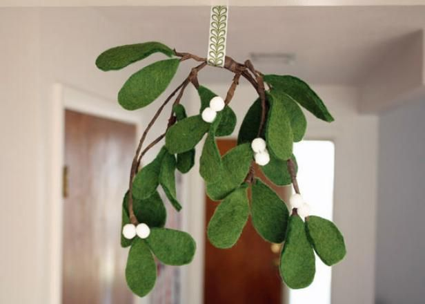 DIY Network shows you how to use simple craft materials to create a faux mistletoe.