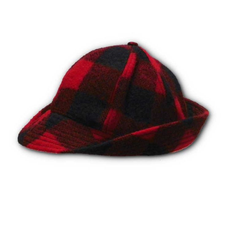 Wool Jones hunting hat featuring classic patterns complete with optional fold down ear flaps.