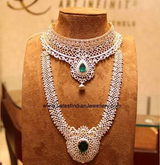 Tibarumal Diamond Choker Haram Set