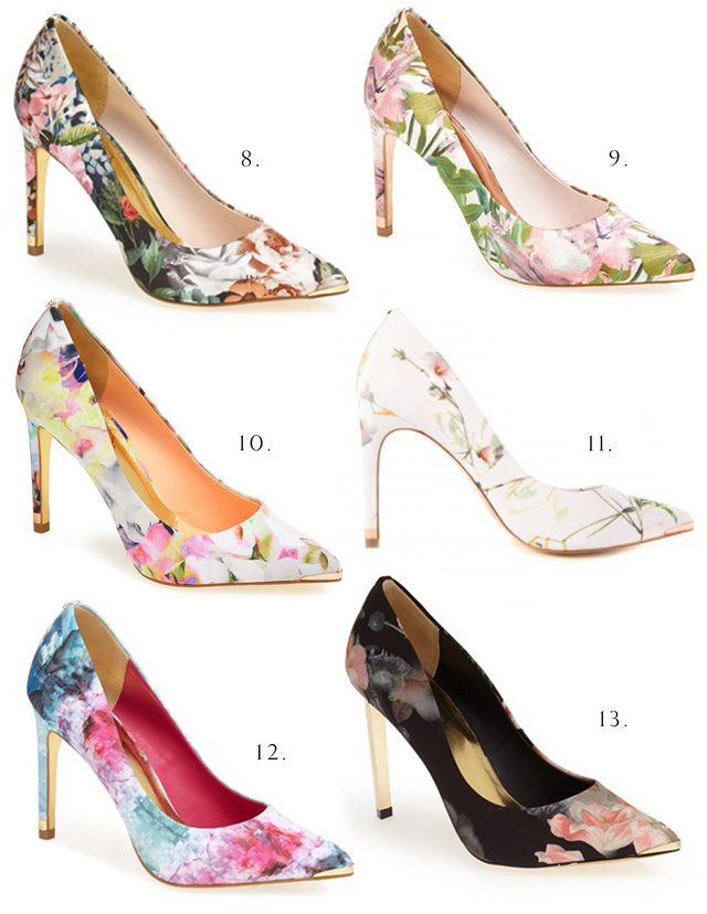 { ted baker floral shoes }