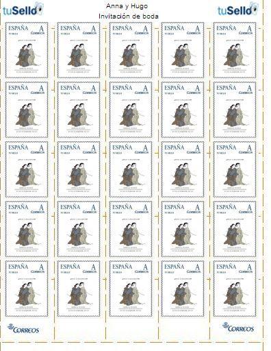 Pliego de sellos personalizados 25 unidades