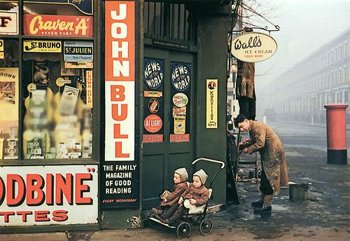 Street Corner at World's End, London, 1954 Photo by Inge Morath - Looooooong before my time, The Worlds End has changed so much