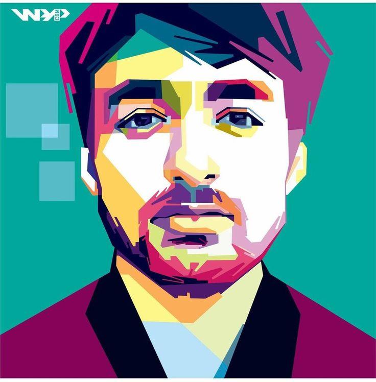 Oliver Heldens In Wpap #wpap #popart #oliverheldens #art #artwork #Dj #vektor #corel #andreallabar #design #portrait