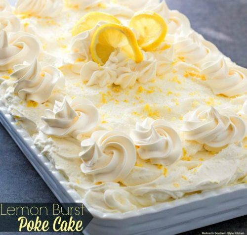 Lemon Burst Poke Cake Recipe Lemon flavoring is so much fun to use. Specifically in a dessert too. It has the ability to even the whole dessert out by itself, unless you still over power it with sugary goodness. However most lemon desserts are very well balanced because of this property. Even desserts like Lemon … Continue reading »