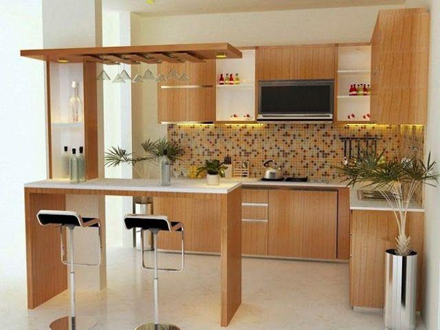 Beautiful Kitchen Design That Inspires Di 2020 Mini Bars Dapur Kontemporer Dekorasi Dapur