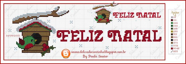 Bordados & Crochês Gigi Eloy: Chegou o Natal!!!