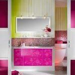 Contemporary Pink Bathroom Fixtures, Furniture & Tile | Apartment Therapy