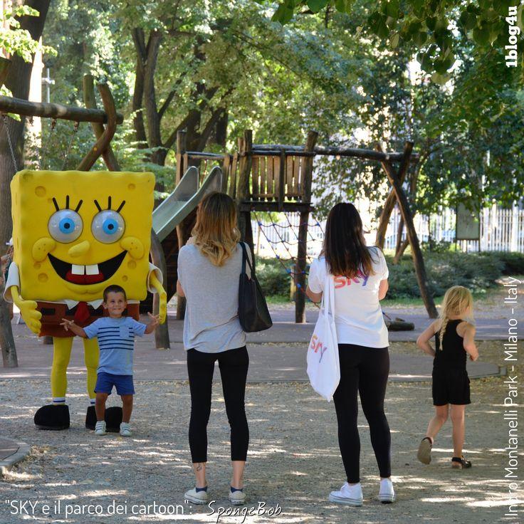 #SKY e il parco dei #cartoon : #SpongeBob #SquarePants - #StephenHillenburg #Nickelodeon - #CheSpettacolo #Giardini #Indro #Montanelli, #Milano , #Italy - #Gabriella #Ruggieri for  #1blog4u - #Sergio #Bellotti - ph. credit #Vaifro #Minoretti for 1blog4u