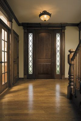 Love the rich look of this new Pella Architect Series premium fiberglass entry door with sidelights featuring the Verona glass collection!  See Pella.com for details.