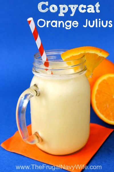 Copycat Orange Julius Recipe - Save money and make his addicting treat at home