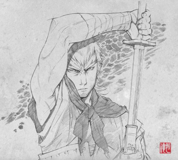 Sword of The Stranger sketches by  Saito Tsunenori and superbly animated by one of my animation idols Yutaka Nakamura. Good lord.