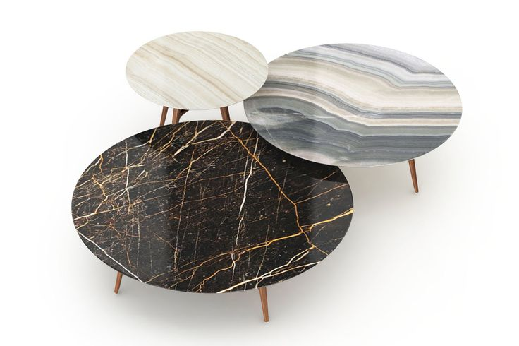 Hermès - Mesas nido de mármol.