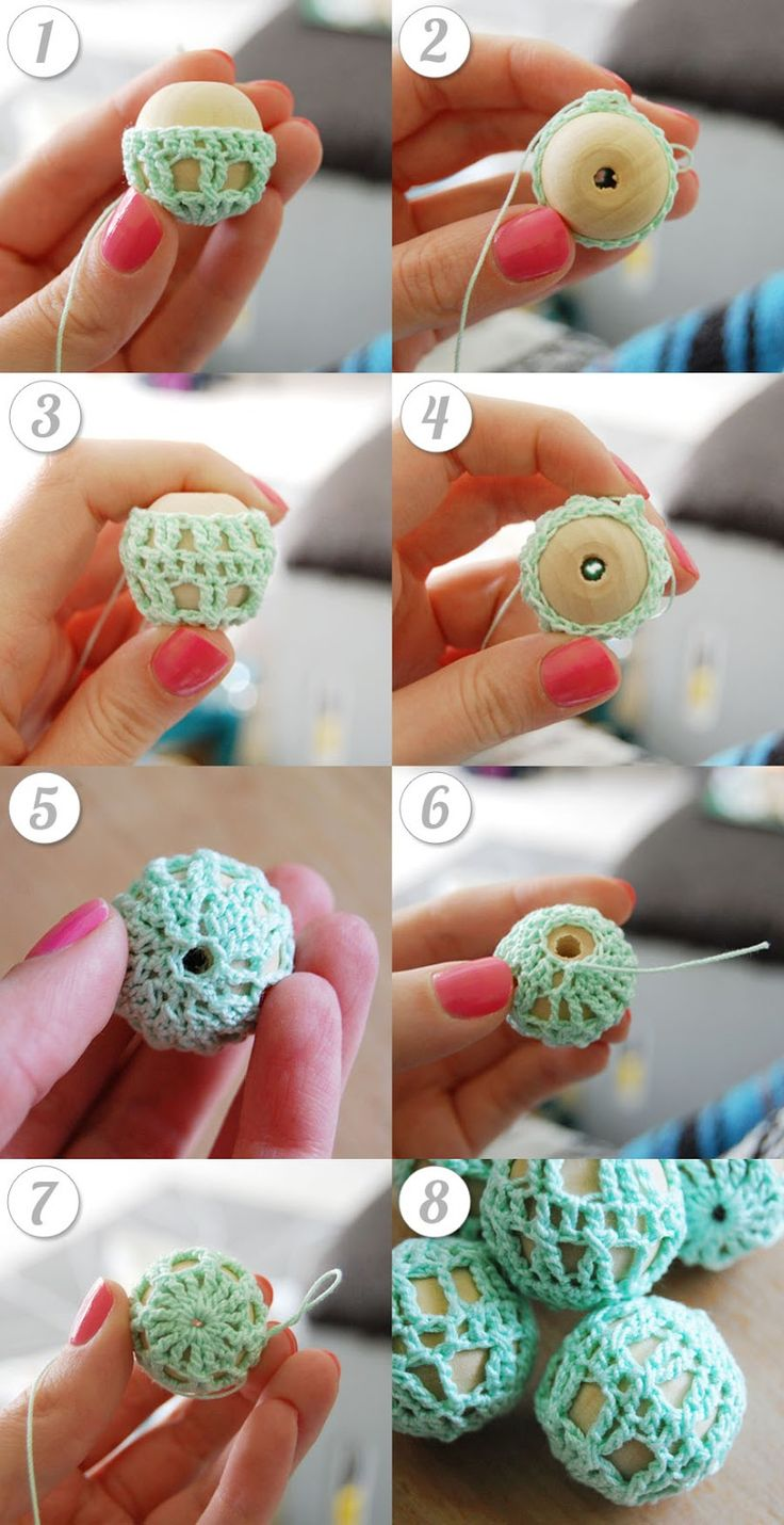 mon makes things: Free Pattern: Crochet Wooden Beads