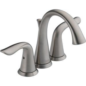 Delta Lahara bathroom faucet in Stainless