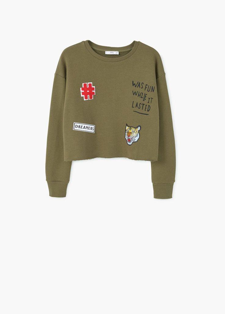 Patch sweatshirt | MANGO