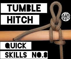 Tumble Hitch: A really useful knot: Ultra Light Hiking, Ultralight Backpacking.
