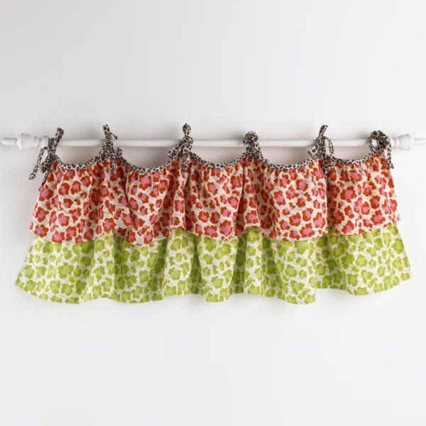 Shop Cotton Tale Designs  HKVN Here Kitty Kitty Valance at The Mine. Browse our kids window treatments, all with free shipping and best price guaranteed.