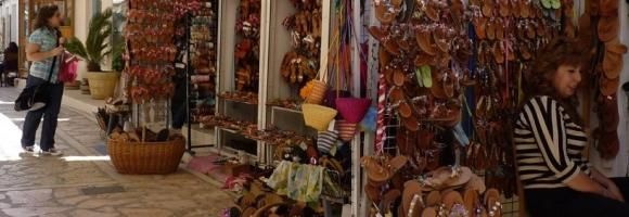 In Spetses, the narrow street leading from Dapia to Kastelli, is full of shops and boutiques with handmade jewelries and traditional products. Learn more: http://sail-la-vie.com/discover/l/3476/Shopping_Street_-_Spetses