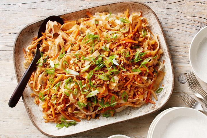 Curtis Stone's stir-fried rice noodles with chicken and vegetables