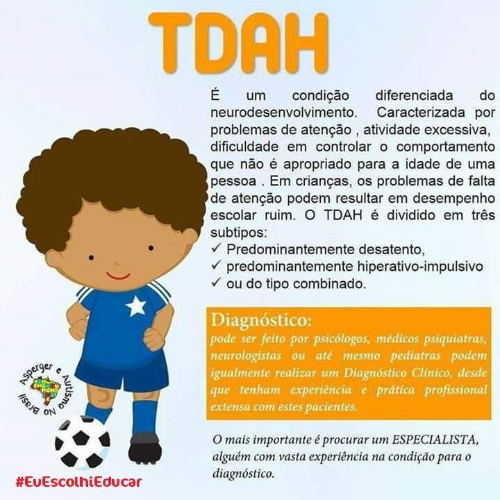 O que é TDAH - Transtorno do Déficit de Atenção com Hiperatividade ?    #TDAH #TranstornodoDéficitdeAtenção    Existem alguns problemas que envolvem a infância e a qual precisamos conhecer, para ajudar as crianças e adolescentes a nossa volta. Vamos postar nos próximos dias: Dislexia, Autismo, Síndrome de Tourett, Síndrome de Asperger, Transtorno do Déficit de Atenção com Hiperatividade (TDAH), Transtorno Bipolar, Transtorno Opositivo Desafiador (TOD), Altas Habilidades, e Esquizofrenia…