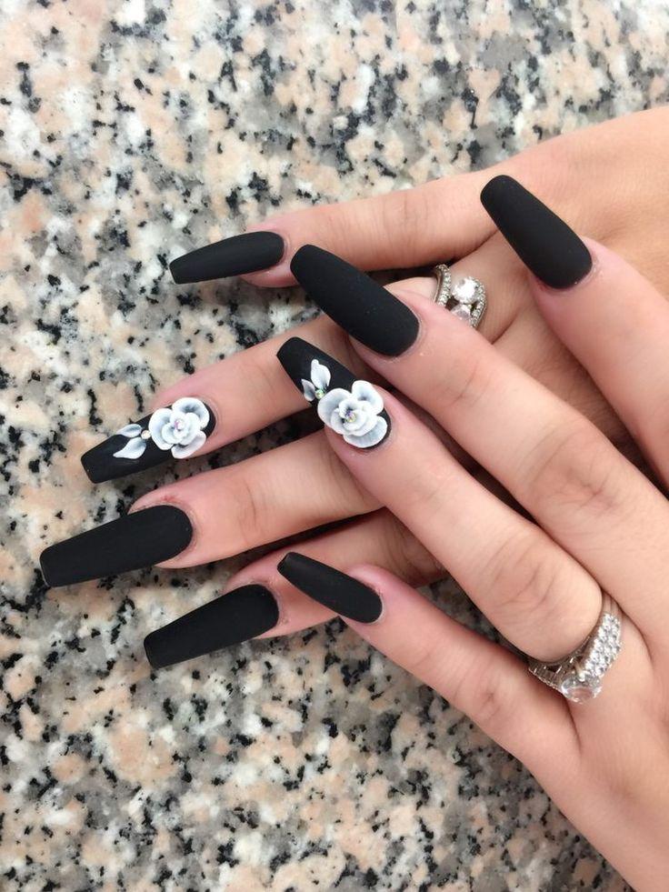 3d flowers long coffin nails design lt nails chatsworth