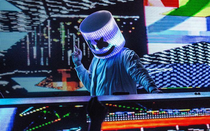 Download imagens clube nocturno, Marshmello, DJ, house progressivo, A DJ console