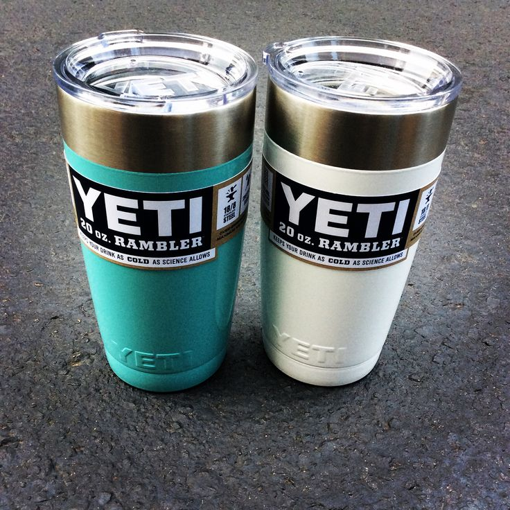 Yeti 20 oz Rambler with powder coating! The Shoe Box in Tallahassee, Florida. 8508779174