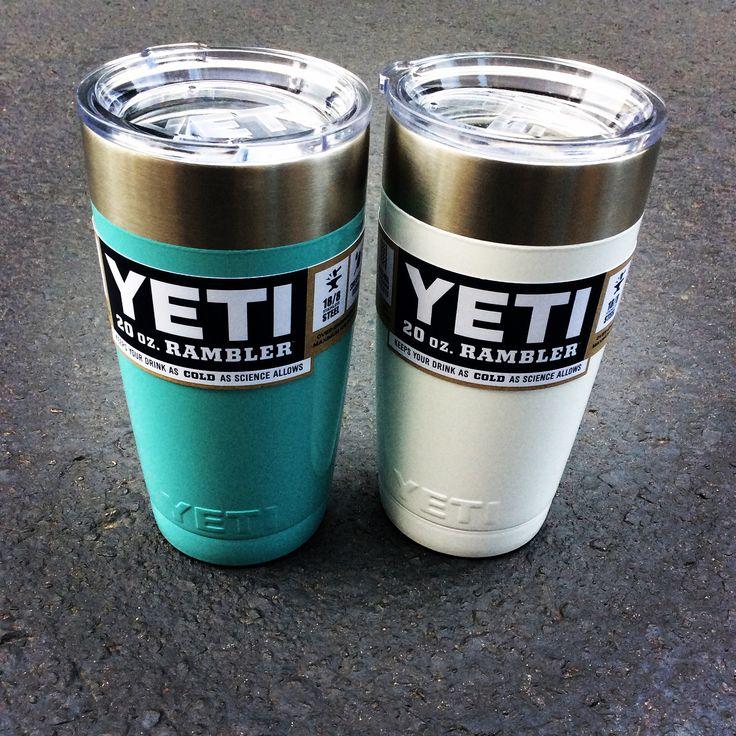 Yeti 20 oz Rambler with powder coating! The Shoe Box in