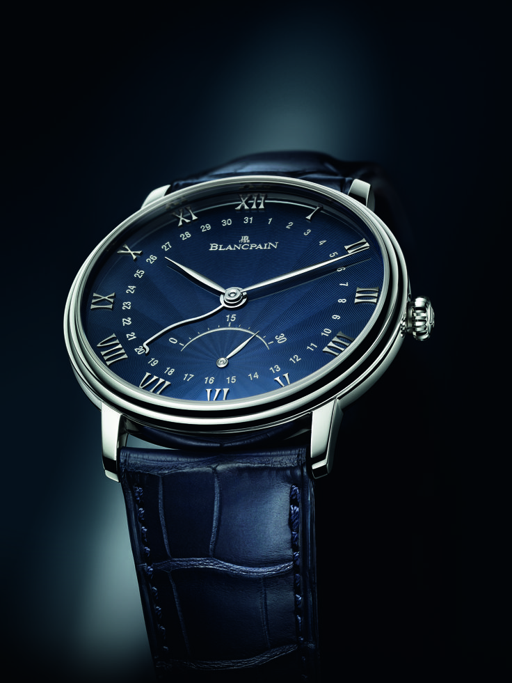 the blancpain villeret with flinqu lacquered dial watch is a modern day luxury menu0027s watch designed in timeless classic style the unique brilliant blue