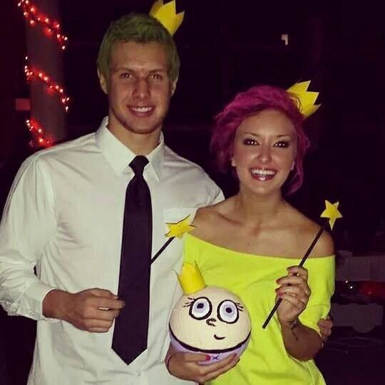 What we did for Halloween. Super cute couples costume. Cosmo and Wanda and baby Poof.
