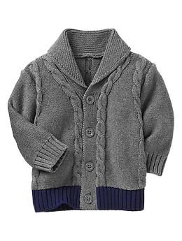Cable knit cardigan | Gap