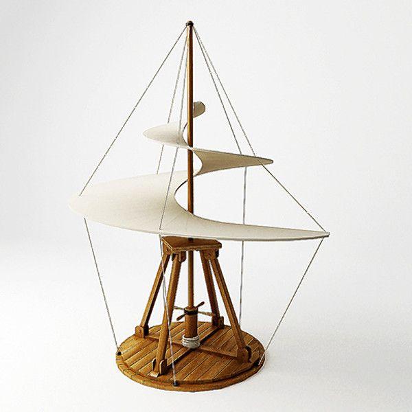 3d model flying machine da vinci - Leonardo da Vinci flying machine 03 by 3DRivers... by 3DRivers
