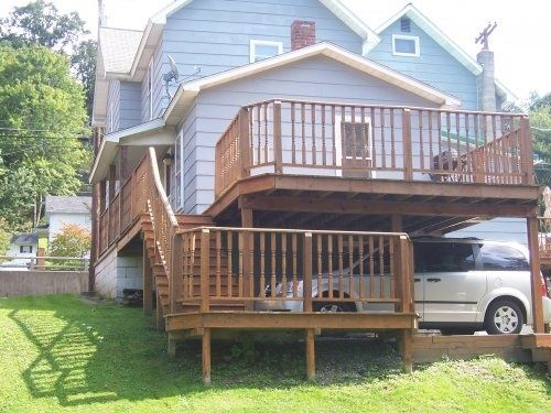 20 best carport deck plans images on pinterest deck for Garage under deck