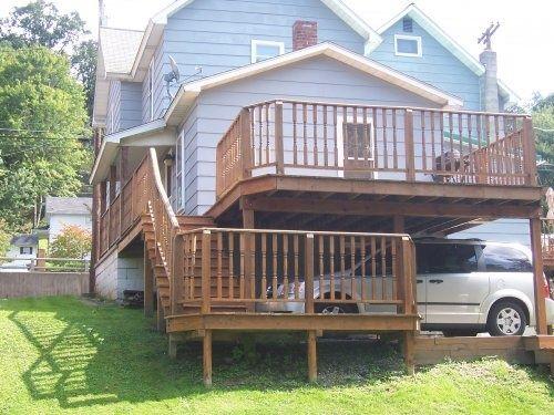 Carport deck designs deck carport ideas for the for Carport deck