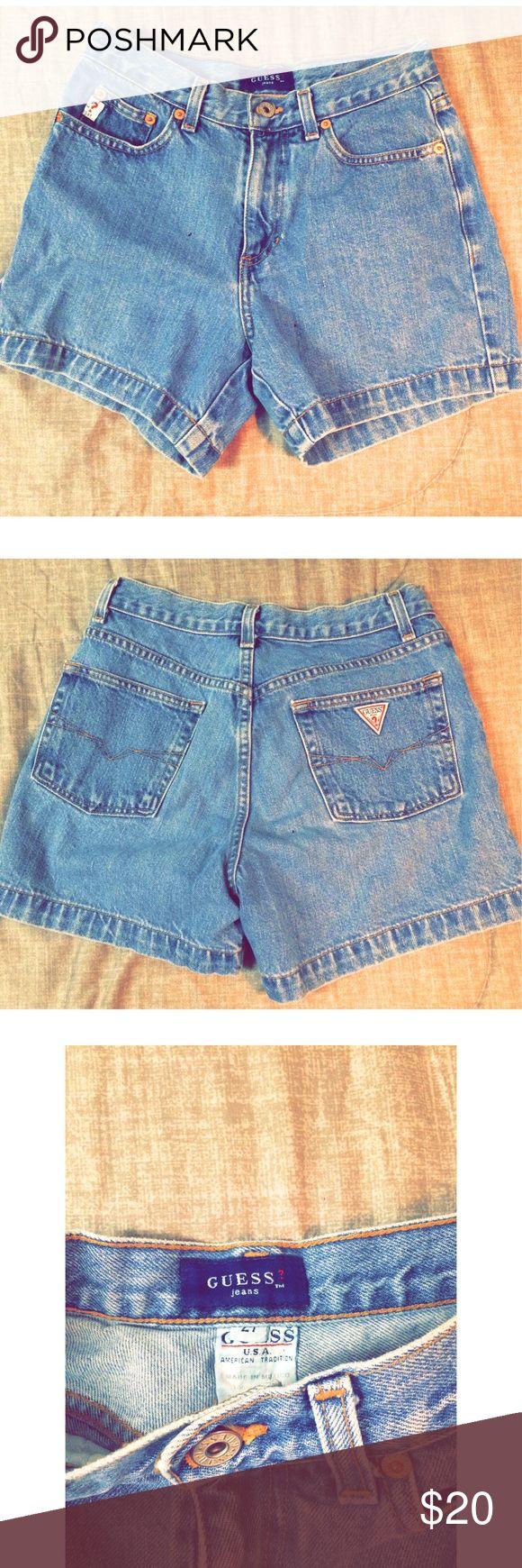 Vintage Guess Jeans Vintage guess jean shorts.  Highwasted. Size 27. Guess Shorts Jean Shorts