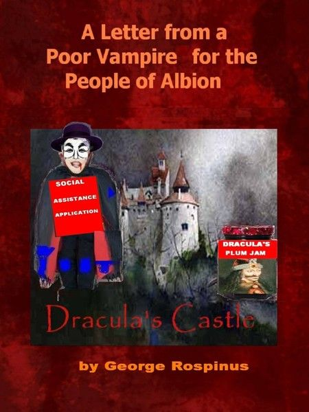 "Some of the caracteristiques of this e-book: political humor, pamphlets, political satire in photo-caricatures and commentaries, in a ""poor vampire's"" vision, trying to reflect the reality of this moment in Europe: the fear of the rich countries of the ""poor emigrants"" from the Eastern countries."
