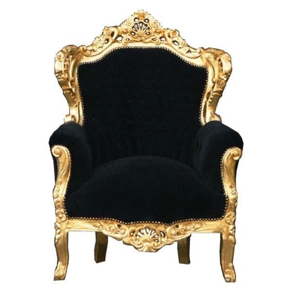 ANGEBOT Thron schwarz gold König Barock Sessel fürstlich Prunk  ANGEBOT Thron schwarz gold König...,Barock Sessel Thron schwarz gold…