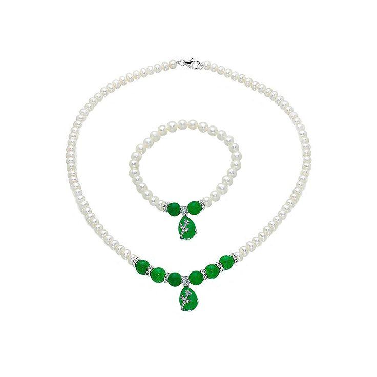Set Orchira Picături de Smarald (colier, brățară)