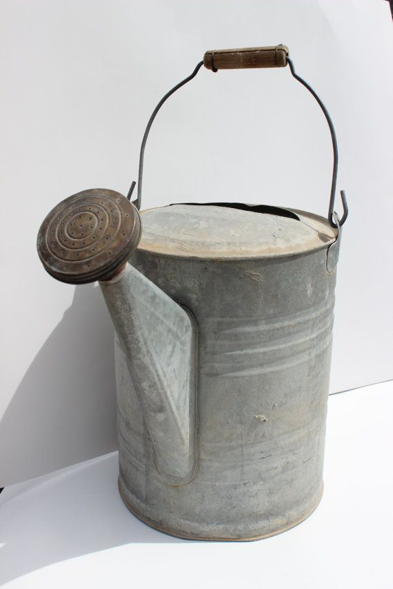 Reserved For Stephanie Vintage Metal Galvanized Watering