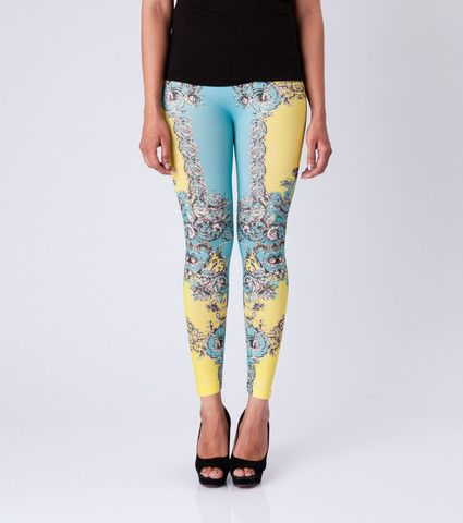 Techno Vine Leggins By ESL. Price: Rs. 350.00 Visit: http://bit.ly/1MEmoG6